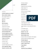 TABELA DE INSUMOS GERAIS DE ORÇAMENTO