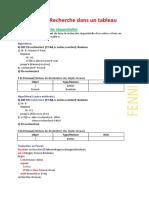 Exercices Pascal-Recherche dans un tableau