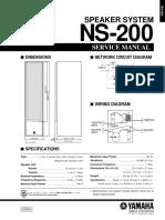Yamaha ns-200 Service Manual