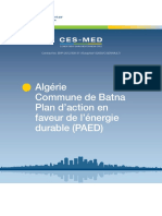 Algeria Municipality of Batna Sustainable Energy Action Plan (SEAP in French)