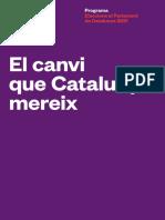 Programa electoral d'En Comú Podem