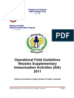Guidelines for Measles SIA 2011 Cambodia