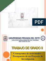 Cronograma y Presupuesto de una Investigación - Presentación - 29.01.2021