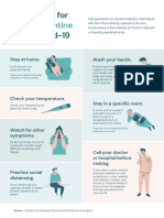Blue and Green Self-Quarantine Guidelines Coronavirus Poster