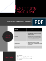 7. Social benefits of machine revamping