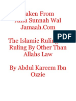 Islamic Ruling On Ruling By Other Than Allahs Law
