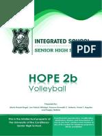 HOPE 2b Module 2 Volleyball