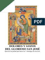 Dolores y Gozos del Glorioso San José. Ejercicio piadoso de los domingos de san José