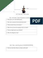 Act 2 Crucible Quiz