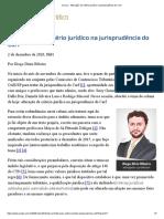 Alteração de critério jurídico na jurisprudência do Carf