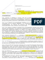 Modelo de Ordenanza Municipal de RASA y CUIS