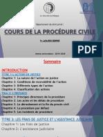Cours Procédure civile - Pr. Laila Ben seddrine