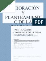 ELABORACIÓN Y PLANTEAMIENTO