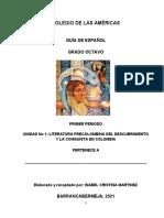 GUIA DE ESPAÑOL DE 8° COL AMERICAS 2021