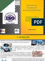 Seminario sobre la norma ISO 9001 2015