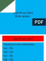 Teste 9º ano 2011