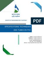 Specifications Techniques Pvc