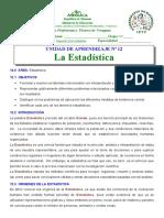 UNIDAD N°12  ESTADISTICA  20  DE OCT  2014