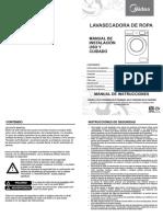 Manual de Usuario Lavasecadora Mlcf13n2snbw, Mlcf13n2snbg, Mlcf15n2snbw, Mlcf15n2snbg