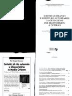 Jucci, Lo status quaestionis dell'archeologia qumranica, in Prato cur., Scritti qumranici e scritture autorevoli; la gestazione del testo biblico a Qumran. RSB 23.1.2011