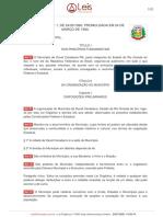 LEGISLAÇÃO - LEI ORGANICA MUNICIPAL
