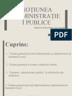 Noțiuni generale privind administrația publice