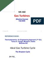 3. Gas Turbines Cycle