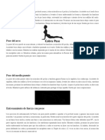 postura ejercicios