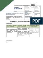 GUIA DE MITOSIS Y CICLO CELULAR