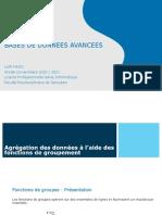BDA 03 SQL Fonctions de Groupement