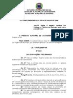 LEI COMPLEMENTAR Nº 03, DE 04 DE JULHO DE 2006