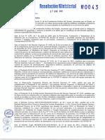 Resolución Ministerial sobre los costos de clínicas privadas
