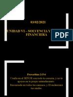 Unidad VI - Solvencia y Solidez Financiera #1