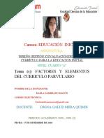 FACTORES Y ELEMENTOS DEL CURRICULO PARVULARIO