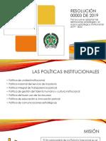 SP40 - Resolución 00003 Del 1 de Enero de 2019 - Definiciones Estratégicas y Marco Estratégico Institucional