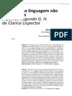 A Jhony Adelio Skeika - Silvana Oliveira - Ecos de Uma Linguagem Não Humana Em a Paixão Segundo GH de Clarice Lispector