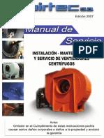 MANUAL de servicio ventiladores centrifugos 2009