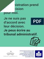Plaquette Tribunal administratif