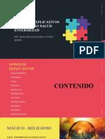 MODELOS EXPLICATIVOS DEL PROCESO SALUD-ENFERMEDAD