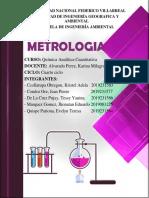 Metrología, Control de Calidad, Calibración y Analisis Instrumental