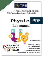 physics lab manual Experiments (2020-2021)- XII