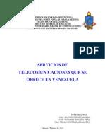 Servicios de Telecomunicaciones en Venezuela
