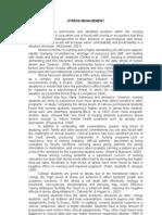 STRESS MANAGEMENT - concept paper