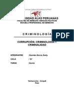 CORRUPCIÓN, CRIMINOLOGÍA Y CRIMINALIDAD