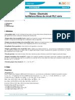 Fiche 6 Oscillations Libres Du Circuit RLC Série