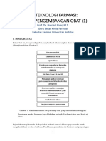 Pertemuan 12 BIOTEKNOLOGI FARMASI - PROSES PNGEMBANGAN OBAT (1)