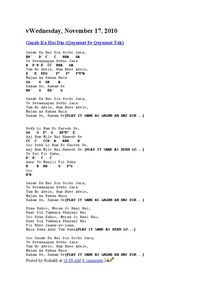 Songs romantic wid chords hexwebz Images