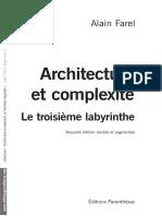 FAREL Alain, Architecture et complexité