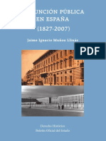 Múñoz, Jaime - La Función Pública en España - 1827-2007