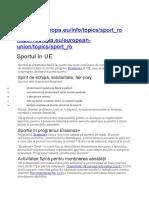 sportul in UE MUSR